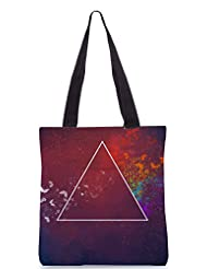 Snoogg 3rd Dimension Poly Canvas Tote Bag