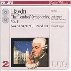 ブリュッヘン指揮 ハイドン 《ロンドン》交響曲 Vol.1の商品写真