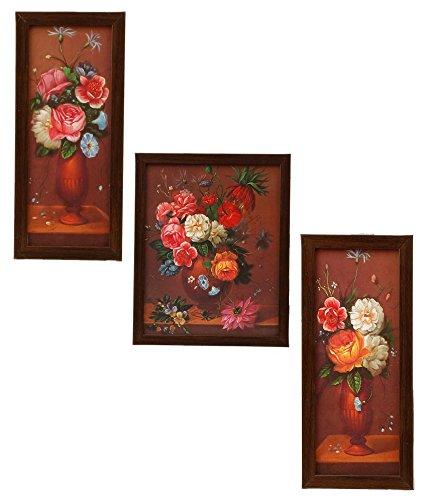 3 Piece Set Of Framed Wall Hanging Art - B00WCR0BMG