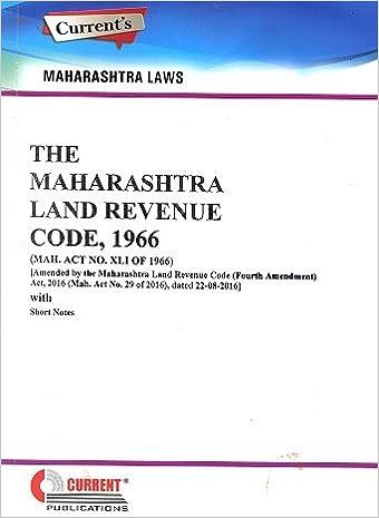 Maharashtra Land Revnue Code