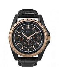 Timex Retrograde Analog Black Dial Men's Watch - T2N113