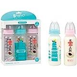 BABITO 3 Baby Feeding Bottles With Silicone Nipple 240 Ml / 8 Oz. Pink