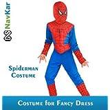 NAVKAR Set Of 5 Spiderman Costume Fancy Dress Outfit Suit Mask Children (7-8) / Spiderman Kids Costume Wear/ Birthday Party Fancy Dress
