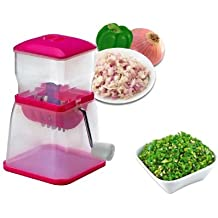 Varshine Plastic Vegetable & Fruit Chopper With Chop Blades & Cleaning Tool (Color May Vary),1-Piece - B01MTG86GD
