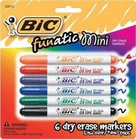Amazon.com: Mini Dry Erase Marker 6 Pk, Asst Colors: Arts