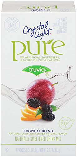 Crystal Light Pure, Tropical Blend, 7-Count, 2.17 Ounce (Pack of 6)