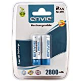 Envie Ni-MH 2800 2x AA MAh Rechargeable Batteries