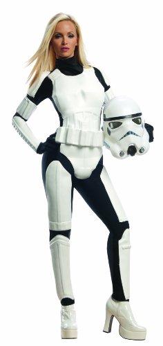 Rubie's Costume Star Wars Female Stormtrooper, White/Black, Large Costume