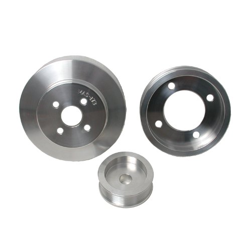 BBK 1554 Underdrive Pulley Kit for Ford Mustang 5.0L – 3 Piece Lightweight CNC Machined Aluminum Kit