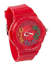 COSMIC SUPER COOL KIDS WATCH - RED RUBBER STRAP