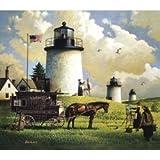 Charles Wysocki Americana Series Jigsaw Puzzle - Three Sisters of Nauset - 1880 - 2009 Release