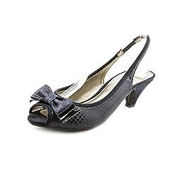 Karen Scott Aura Womens Size 6 Blue Fabric Slingbacks Heels Shoes