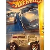 Hot Wheels : 2008 New Models : Bad Mudder 2 Silver & Chrome Heavy Diecast Red Glass 5 Spoke 1/64 (20