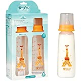 BABITO Baby Feeding Bottle With Silicone Nipple Filter And Measured Cap Afrodita 250 Ml / 9 Oz.