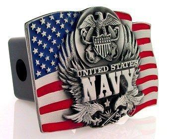 Navy Midshipmen Trailer Hitch Cover - NCAA College Athletics