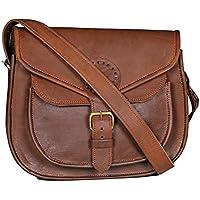 "HLC 10""x7"" Brown ,Genuine Leather Women's Bag /Handbag / Tote/purse/ Shopping Bag"