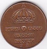1968 Sweden 5 Ore Coin - King Gustav Adolf VI