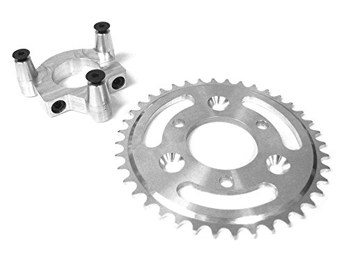 40 Tooth CNC Sprocket and Adapter Assembly (Adapter Diameter: 1.5 Inch)