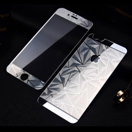screen mirroring iphone 5 buy 3d pattern mirror front back tempered glass 16066