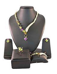 Multicolor Crystals Designer Jewellery Set - B00SFWXC9G