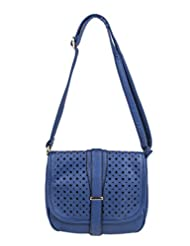 Feetoes Cross Body Style Saddle Bag With Laser Cut Detail