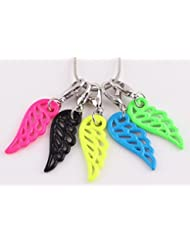 Candy Color ORANGE Wing Zipper Charm, BRIGHT ORANGE Lobster Clasp Charm For Purse, DIY Arts & Craft Charm, Pendant...