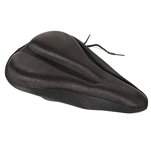 4ucycling bicycle cushion,Durable Gel and Comfortable Sponge Mixed Pad Saddle Bike Seat Cover Non-slip Design for Cycling-Black