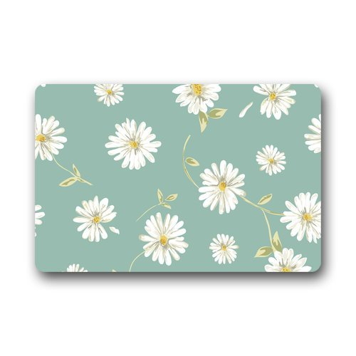 ... Daisy Flower Door Mats Cover Non Slip Machine Washable Outdoor Indoor  Bathroom Kitchen Decor Rug Mat ...
