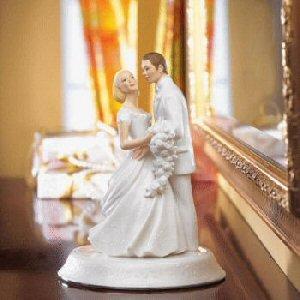 Lenox Opal Innocence Porcelain Bride and Groom Cake Topper