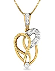 WearYourShine By PC Jeweller The Carys 18k Yellow Gold And Diamond Pendant