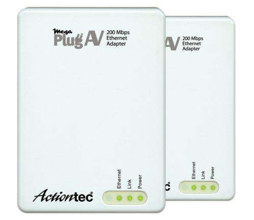 Actiontec MegaPlug A/V 200 Mbps Powerline Network Adapter Ki