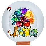 "Raksha Bandhan Gift For Brother Or Sisters ""Pokemon Character"" Printed Circular Plate With Stand"