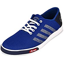 Backmesh Men's Blue Casual Mesh Lace-Up Sports Shoes