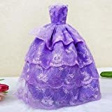 Alcoa Prime 26cm Purple Strapless Wedding Dress Evening Dress Gown For Barbie Clothes