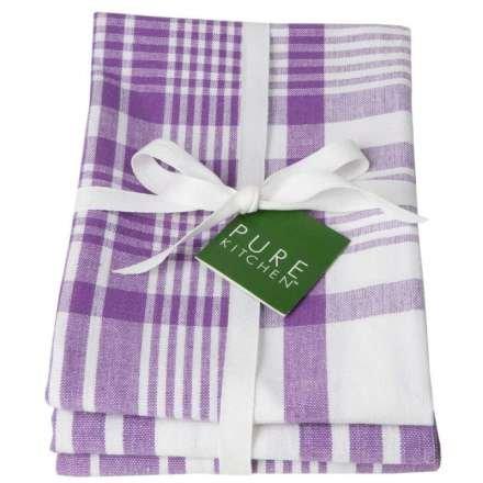 Jumbo Pure Kitchen Towel, Prince Purple, Set of 3