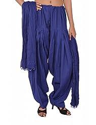 Stylenmart Women Blue Patiala Salwar And Dupatta Set