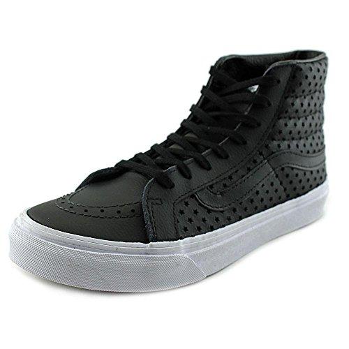 Vans Womens Foil Metallic Sk8-Hi Slim Sneaker (Perf Stars) Black/White 9 B(M) US