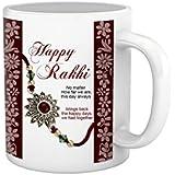 Rakhi Gifts For Sister Ceramic Mug(325 Ml) By PB EPublishers - Rakshabandhan Gift White Mug For Sister Rakhi Gift...