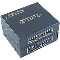 J-Tech Digital JTD-MINI-1x2SP 2 Port 1X2 Powered Hdmi Super Mini Splitter For Full Hd 1080P With 3D Capability