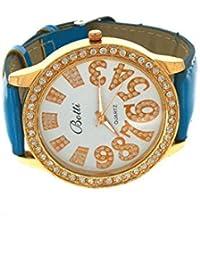 Anuradha Art Blue Colour Very Classy Designer Stylish Simple Hand Watch/Bracelet For Women/Girls