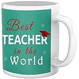 Tied Ribbons Teachers Day|teacher Best Teacher In The World Printed Coffee Mug(325 Ml, White) - B01L3ZK0B4
