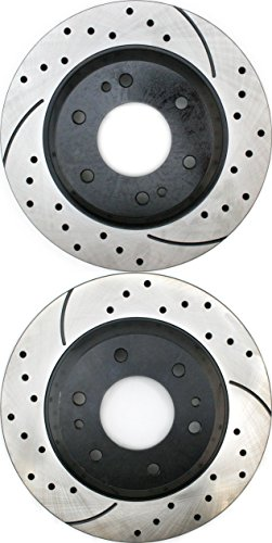 Prime Choice Auto Parts PR65071LR Performance Drilled and Slotted Brake Rotor Pair for Front