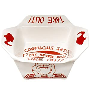 Amazon.com : Chinese Take Out Cat Bowl : Food Bowls : Pet