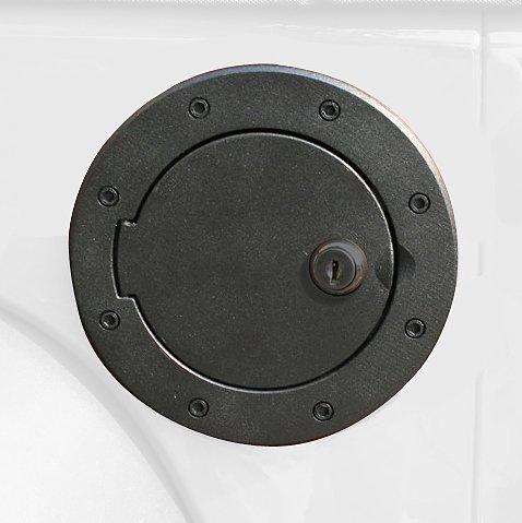 Rugged Ridge 11425.06 Black Aluminum Locking Fuel Door Cover