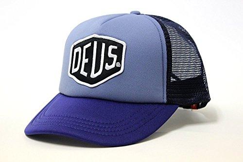 (デウスエクスマキナ) DEUS EX MACHINA メッシュ キャップ 帽子 07875 BAYLANDS TRUCKER【並行輸入品】 (BLUE-NAVY)