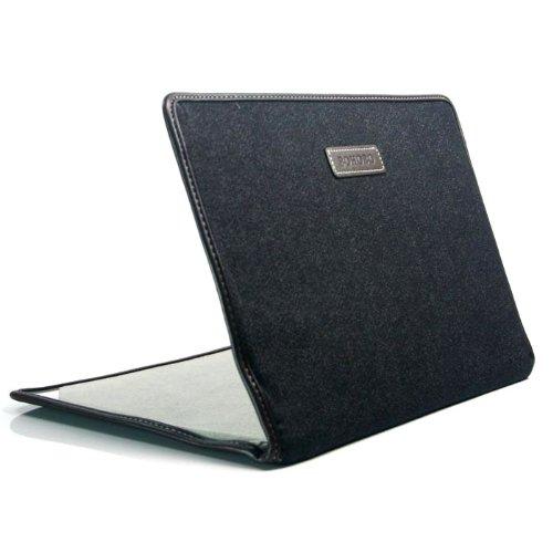 MacBook Air 11.6インチ対応保護ケース 横開きタイプ 超薄型 ジーズン柄 ブラック (1614-1)