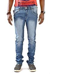 Jugend Blue Slim Fit Light Blue Stretchable Jeans For Men