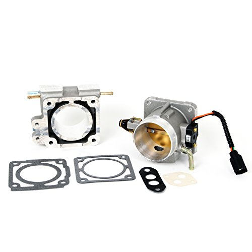 BBK 1500 70mm Throttle Body And EGR Spacer Plate Kit – High Flow Power Plus Series for Ford Mustang 5.0L
