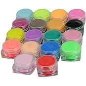 New 18 Colors Nail Art Sculpture Carving Acrylic Powder 18 Pcs