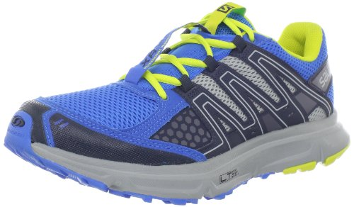 Salomon XR SHIFT Azul Amarillo Hombre Zapatos Trail Running Light Weight Muscle Contagrip